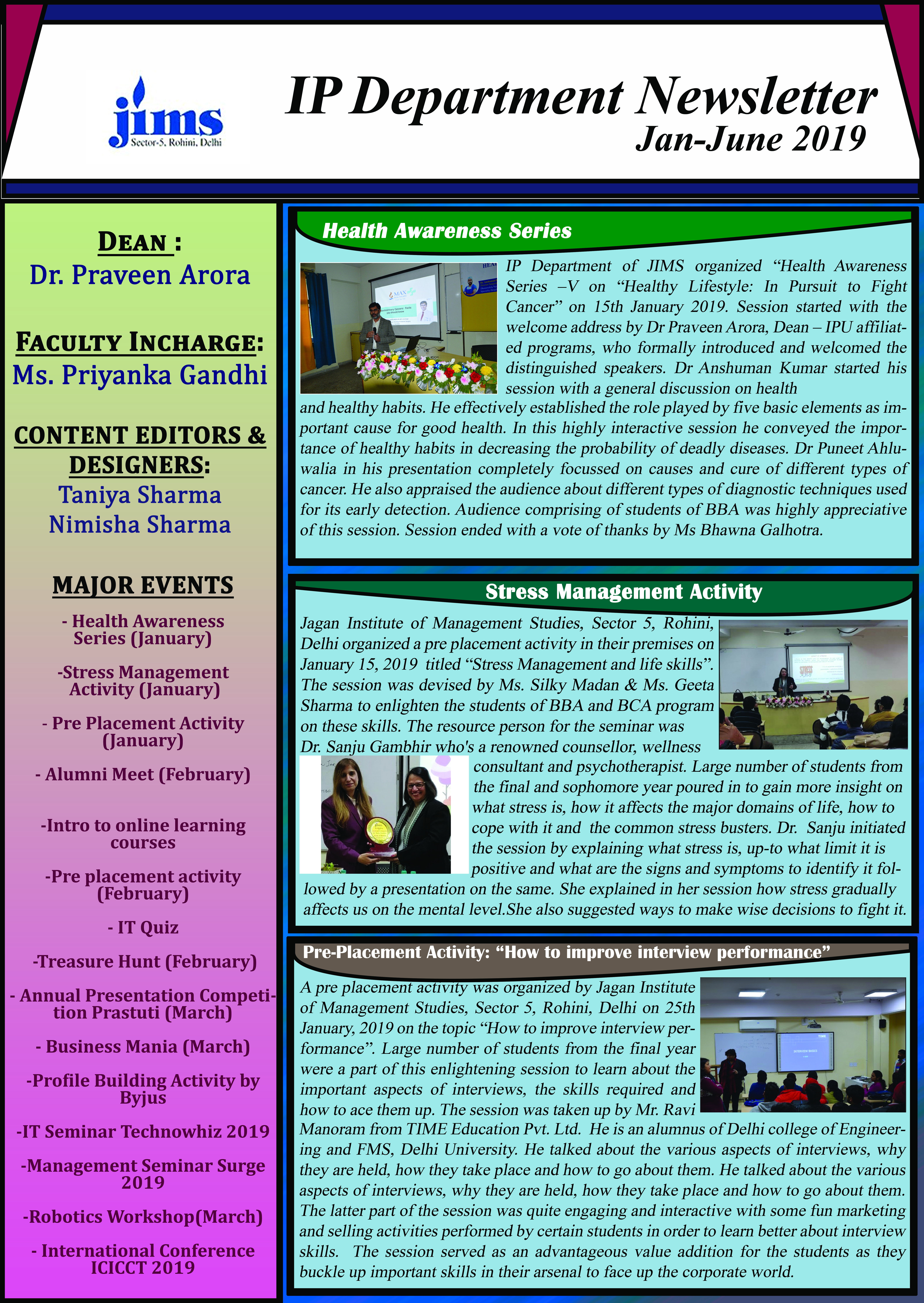 JIMS IP Department Newsletter