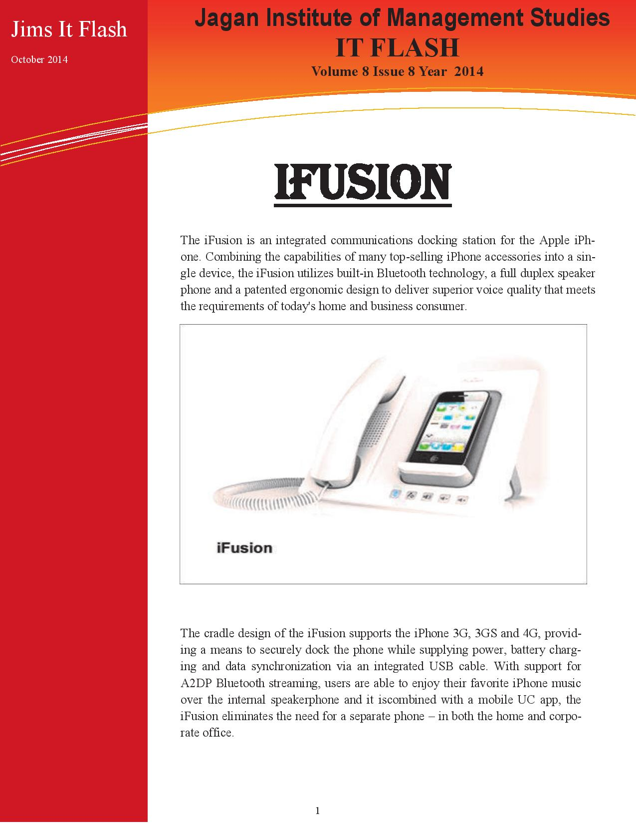 JIMS IT Flash Newsletter Technology in Glimpse
