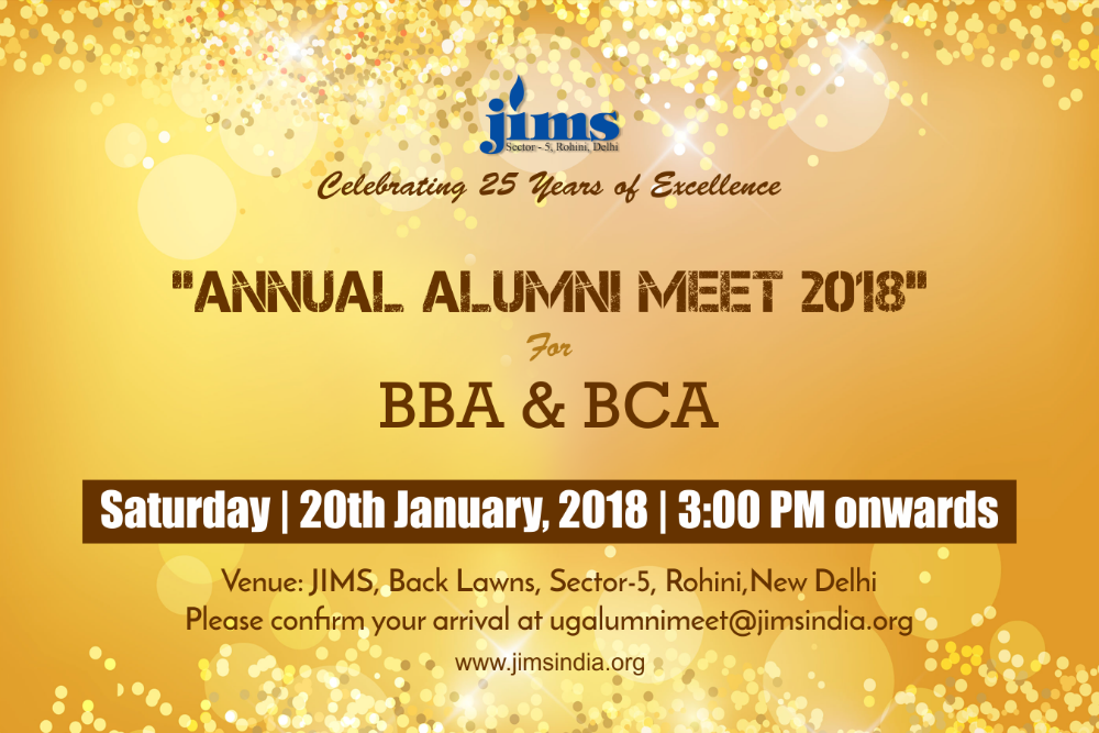 JIMS Annual Alumni Meet for BBA and BCA