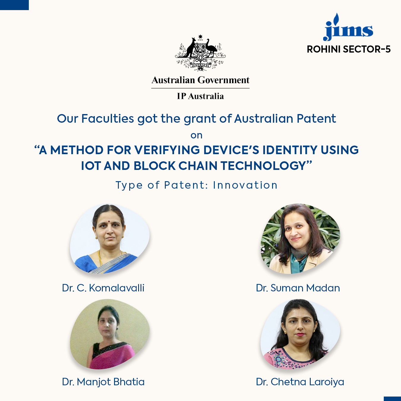 Australian Patent JIMS Rohini