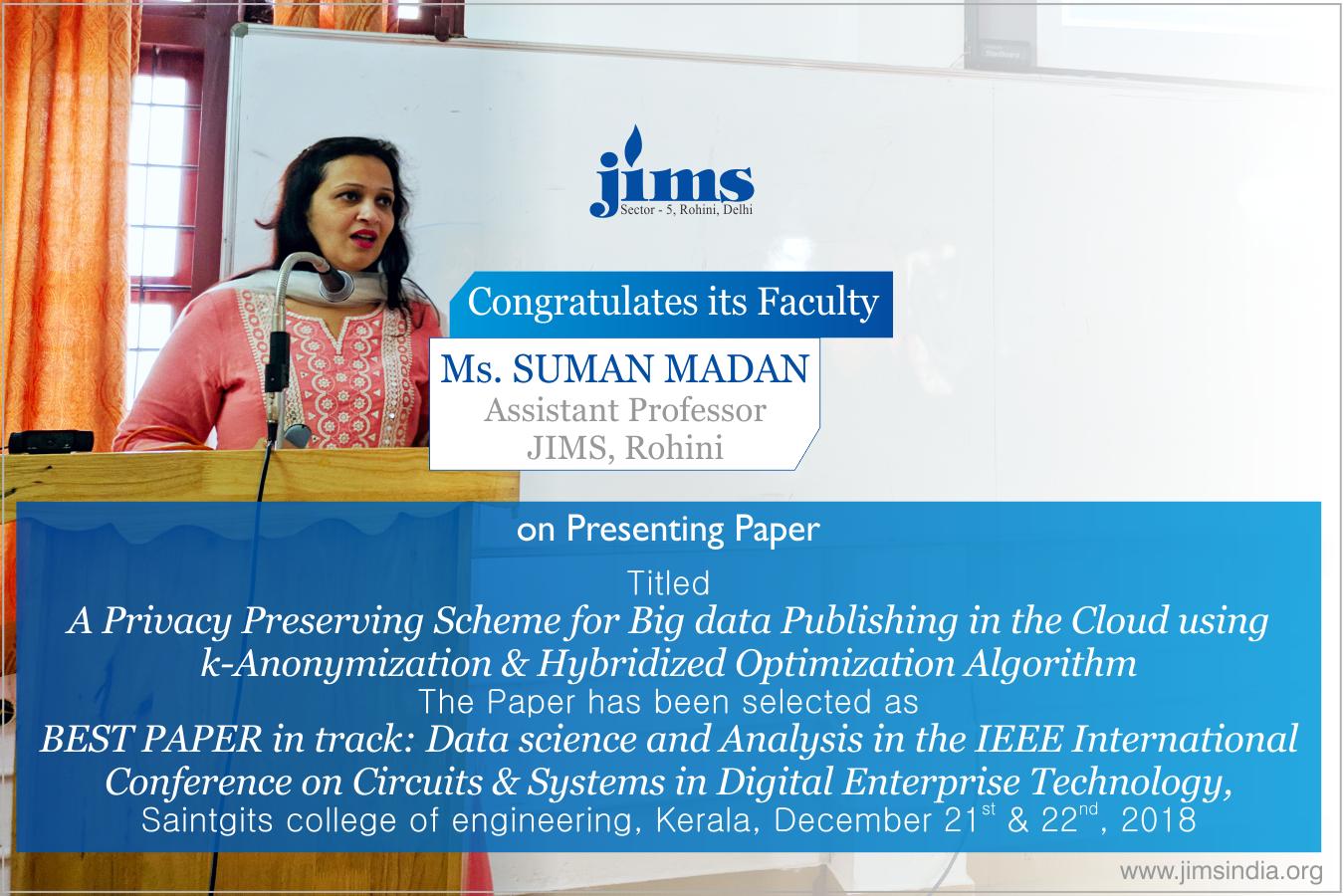 Dr. Suman Madan JIMS Rohini
