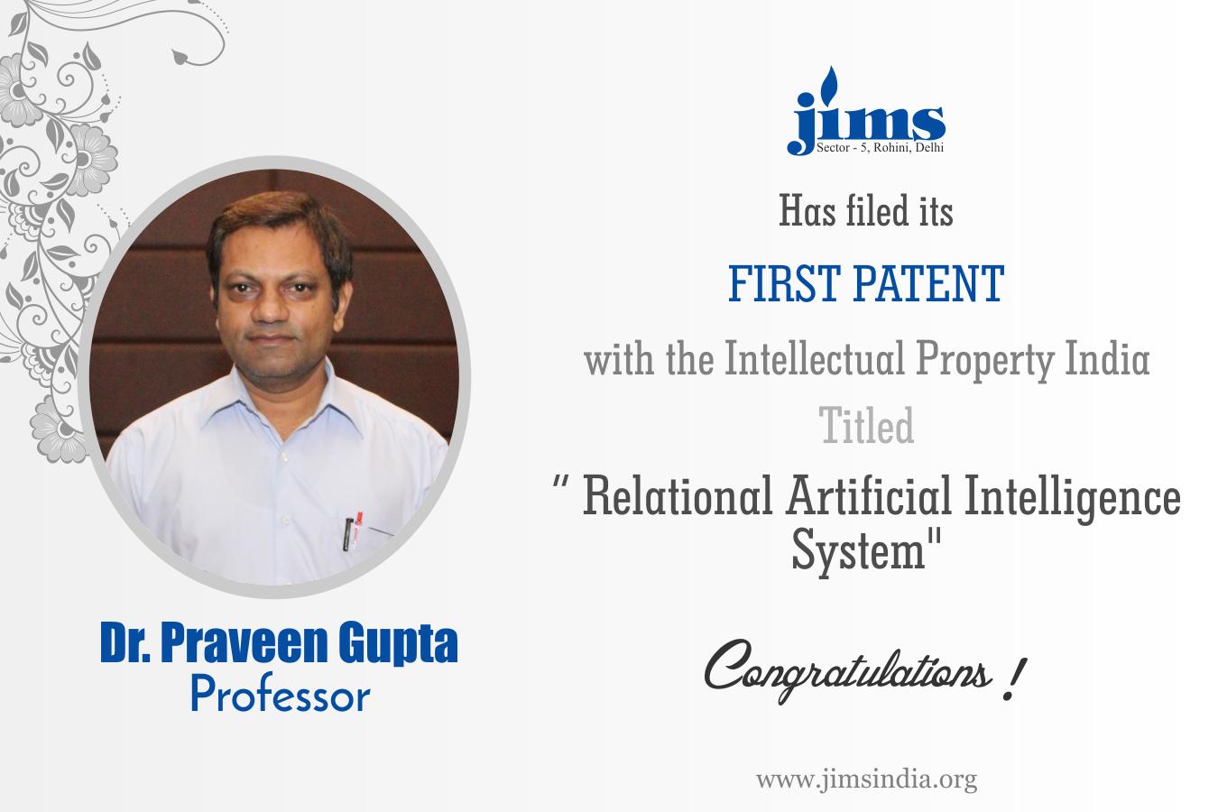 Patent Dr. P K Gupta
