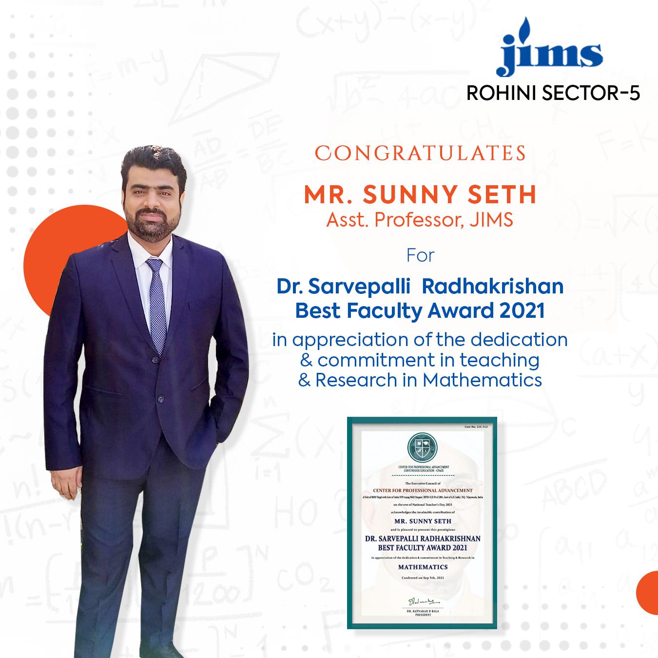 Dr. Sunny Seth JIMS Rohini