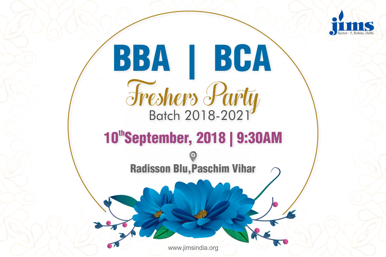 JIMS welcomes its BBA & BCA, 2018-21 batch for the Fresher Party