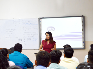 JIMS Rohini organised Guest Lecture on Entrepreneurship by Ms. Divvya Guptaa