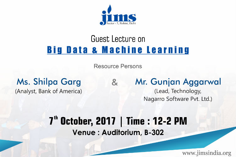 Department of Information Technology is organizing an Interactive Session for MCA students as per following details:Session Title: Big Data and Machine Learning