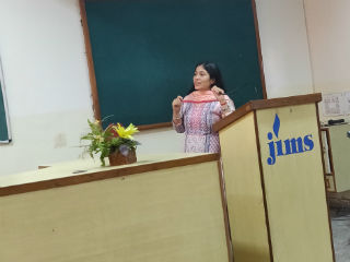 JIMS Rohini organised a guest lecture on Customer Engagement in a Networked Society