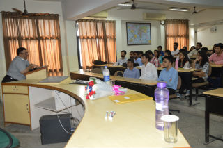 Session on 'Sales & Distribution' by Mr. Vivek Nanda, Head Sales  in Sharp Business System. JIMS Rohini Sector-5 Delhi
