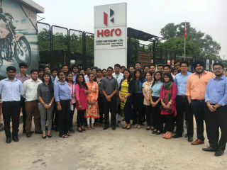 industrial visit to Hero Motocorp Ltd