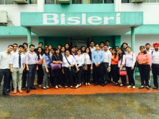 PGDM Students industrial visit at bisleri