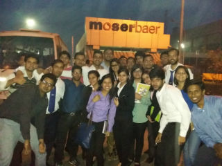 industrial visit to Moser Baer manufacturing plant in Greater Noida