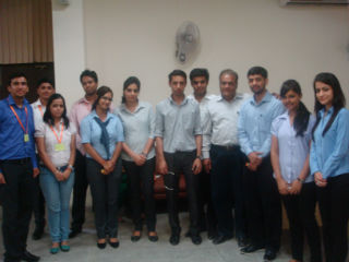 Prof S.C Kapoor, Faculty, JIMS and PGDM- IB Students