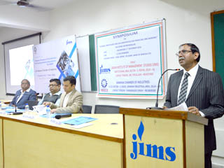 Jagan Institute of Management Studies, Rohini organized a symposium on Credit and Banking schemes available for MSME sector