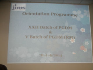 ORIENTATION PROGRAM XXIInd PGDM Batch