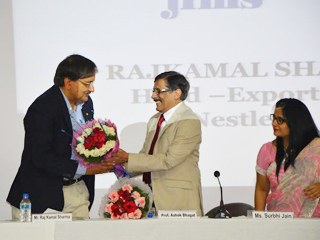 The Chief Guest for the day was Mr Rajkamal Sharma, Head-Exports(NESTLE)