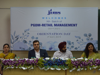 JIMS Rohini Orientation Programme of PGDM Retail Management Xth Batch (2019-21)