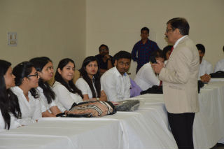 students and guests at JIMS Rohini Delhi