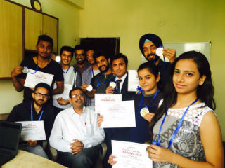 JIMS Rohini students were also given the winning trophies as well as certificates
