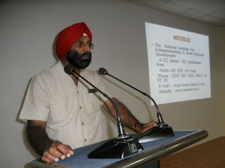 Prof H.P Singh, Chief Consultant NIESBUD