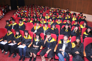 Students of PGDM, PGDM-IB, PGDM –RM, MCA, BCA, BBA streams were rewarded with Degrees and Diplomas respectively.