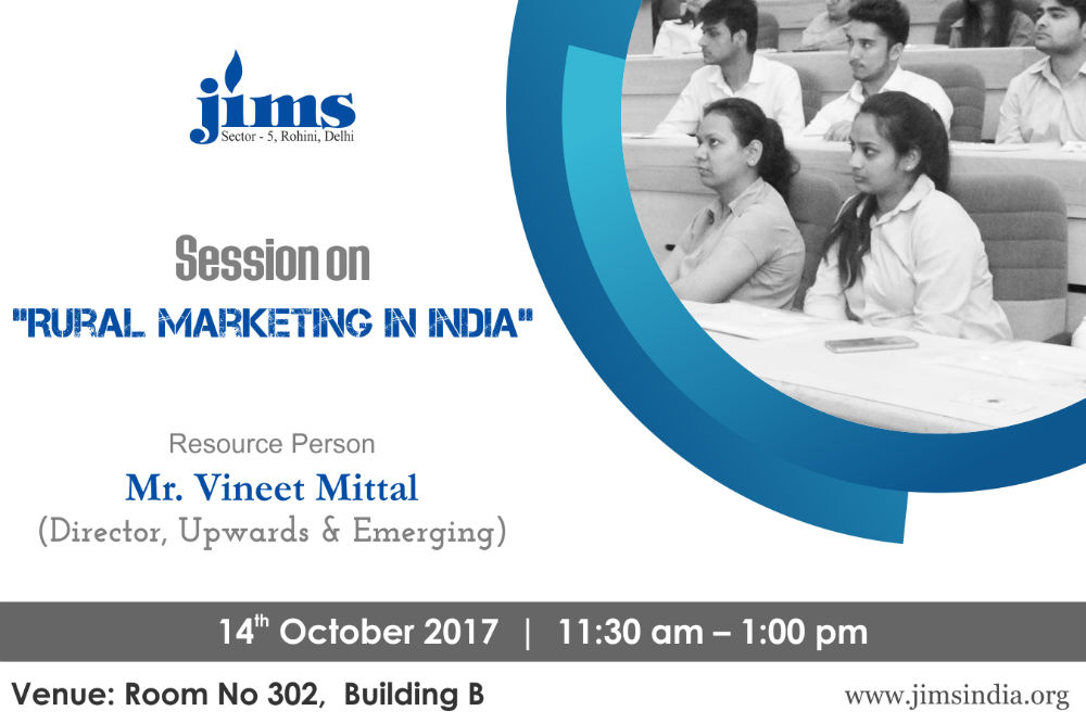 JIMS Guest Lecture on Rural Marketing
