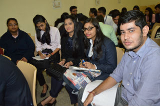 Ms. Priya Bhatnagar, HR Manager, India Mart today visited our college,  JIMS, Rohini Sector-5 Delhi