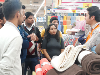 JIMS Rohini Organised a store visit to More Mega Store - Moments Mall, Kirti Nagar for PGDM-RM Students