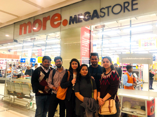 store visit to More Mega Store - Moments Mall for PGDM-RM Students of JIMS Rohini