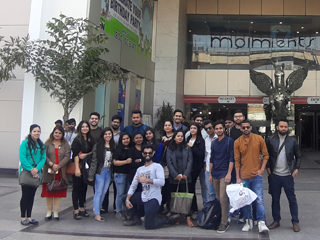 store visit to More Mega Store - Moments Mall for PGDM-RM Students JIMS