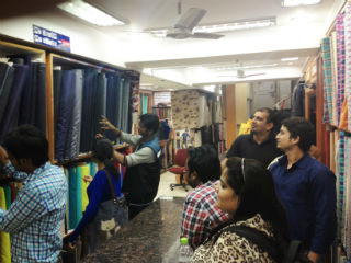 JIMS Students The field visit to fabric retailers and wholesalers at Nehru Place market