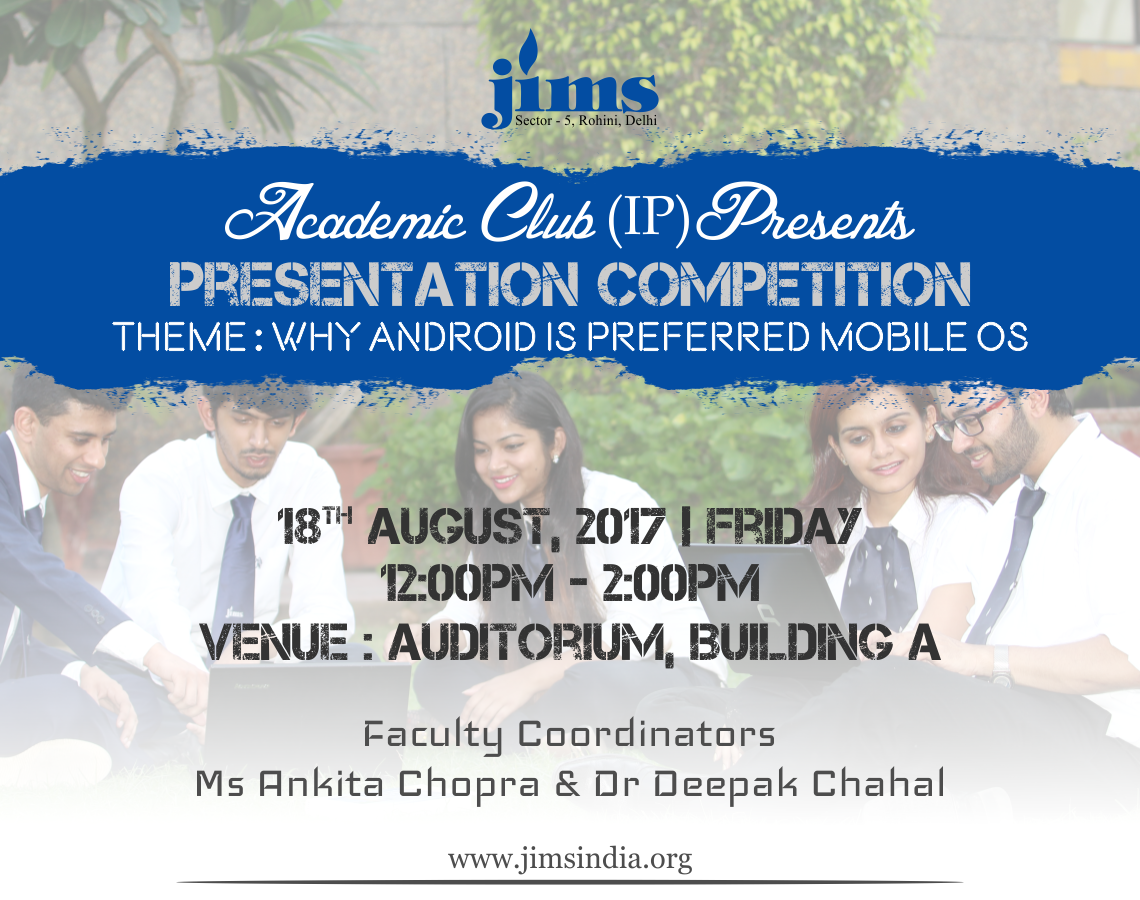 JIMS Academic Club (IP) Presents Presentation Competition