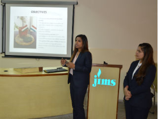 JIMS Rohini Management Department organised Industrial Research Project Progress Presentation