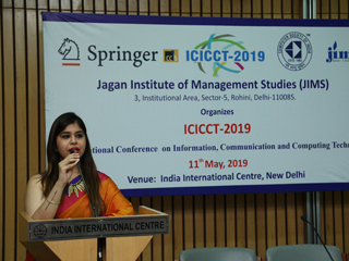 JIMS Rohini International Conference (ICICCT-2019) technically sponsored by Springer CCIS and Computer Society of India (CSI)