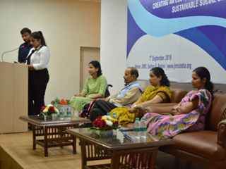 Jims Rohini Organised Seminar on Society and Enterprise -- Creating a Sustainable Eco-system
