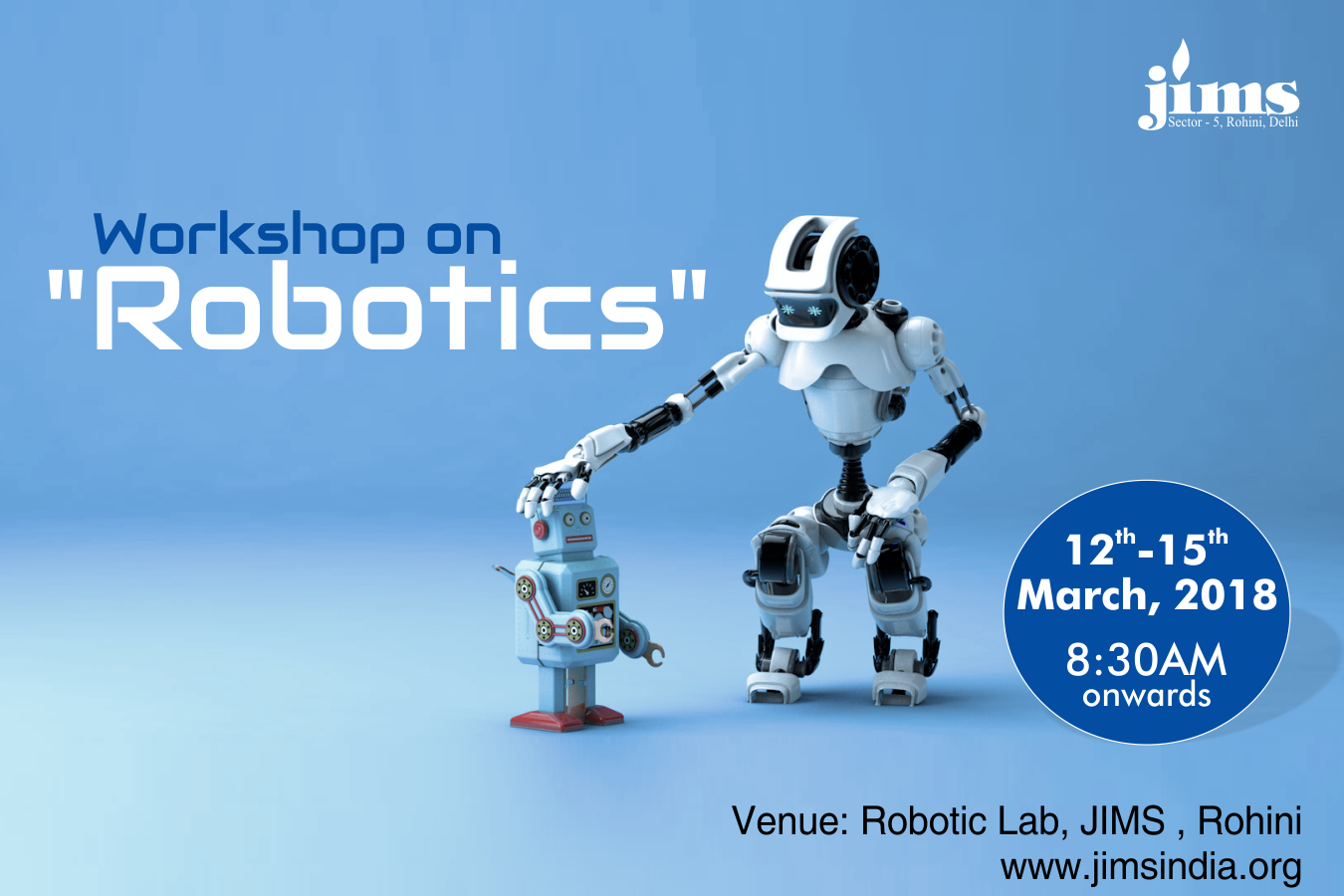 Robotics workshop at JIMS Rohini