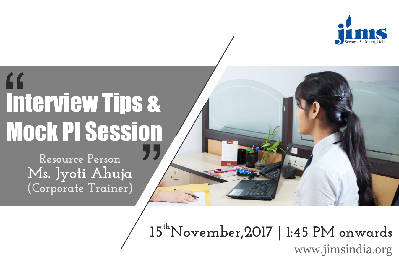 Interview tips & Mock PI session for PGDM-RM(2016-18) on 15th November 2017