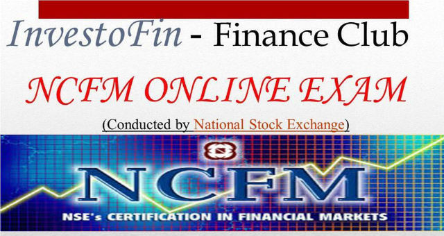NSE's Certification in Financial Markets (NCFM)