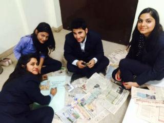 Newspaper making activity