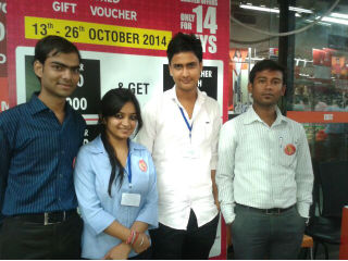 Mr. Akhilendra (HR) at Big Bazaar and Ms. Surbhi Jain, Head- PGDM(RM)