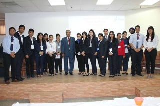 Professor S C Kapoor and his teammate of HR club JIMS