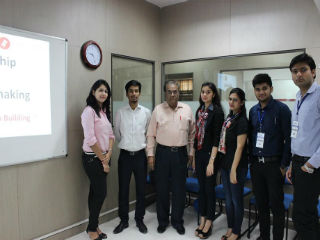 Professor SC Kapoor with PGDM Students