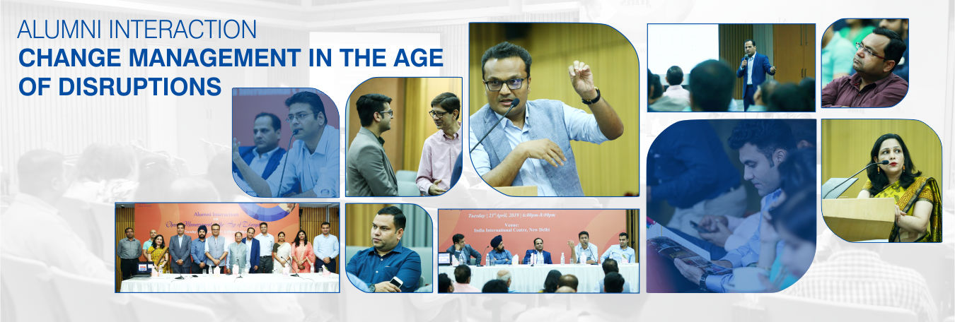 JIMS Rohini Alumni Alumni talk on Change Management in the Age of Disruptions