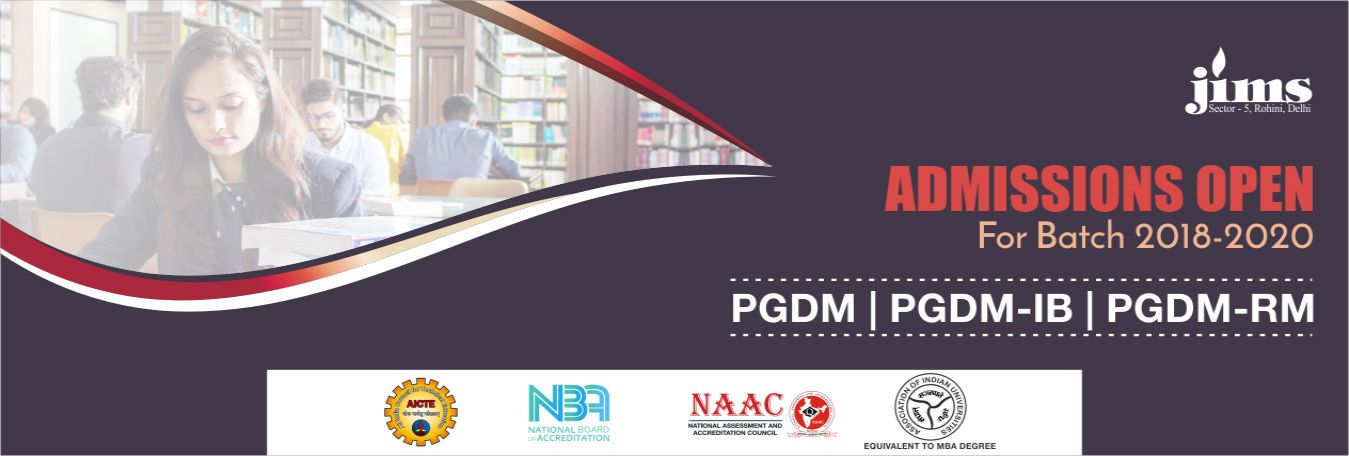 Admission Open 2018-2020 PGDM, PGDM-IB and PGDM-RM