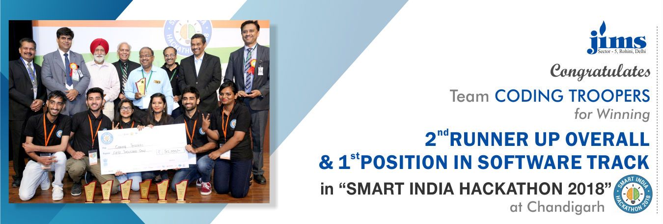 JIMS winners Smart India Hackathon 2018