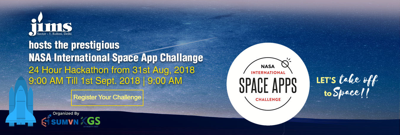 JIMS Rohini Hosts the Prestigious NASA International Space App Challange Hackathon.