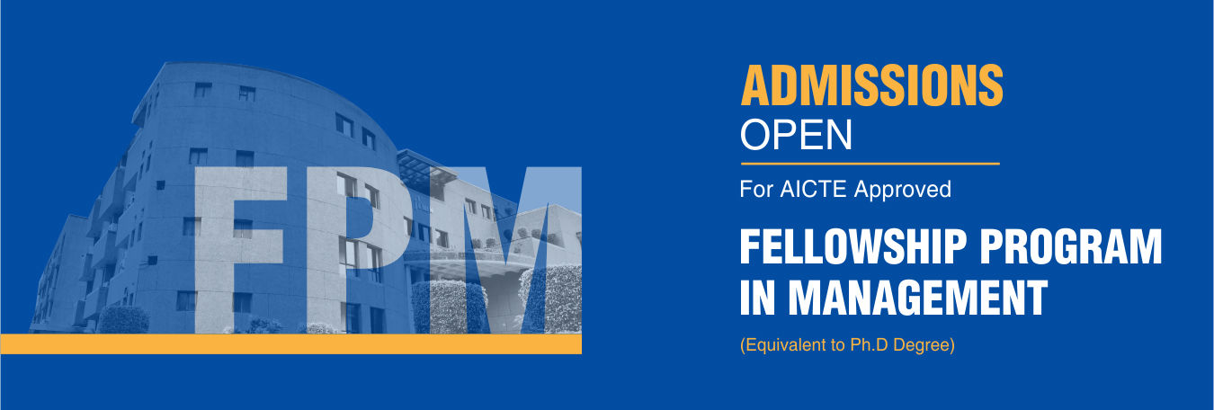 Admission Open 2018 Fellowship Programme in Management